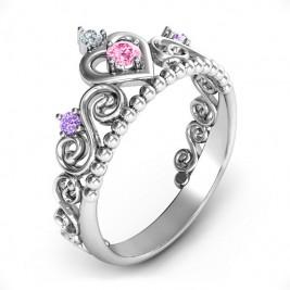 Personalised Princess Charming Tiara Ring
