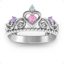 Personalised Princess Charming Tiara Ring