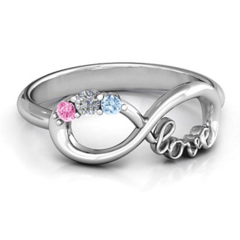 customised infinity promise ring with birthstone infinity. Black Bedroom Furniture Sets. Home Design Ideas