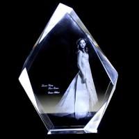 Irregular Shape Crystal - 2D/3D Photo Engraved