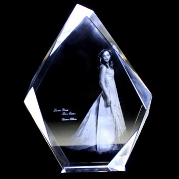 Irregular Shape Crystal - 2D/3D Photo Engraved