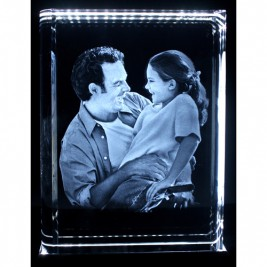 Personalised Crystal With 2D/3D Photo Engraved