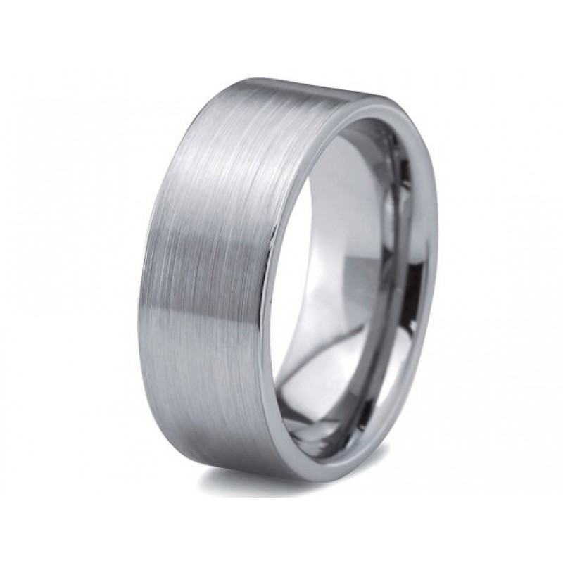 a50c3ad434 Mens Wedding Band, Tungsten Ring Silver 8mm, Promise Ring, Personalized,  Rings for Men, Brushed Tungsten Ring