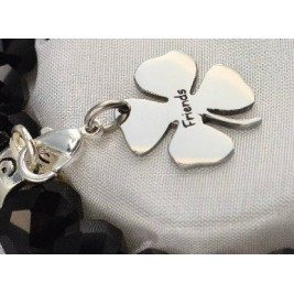 Personalised Four Leaf Clover Charm