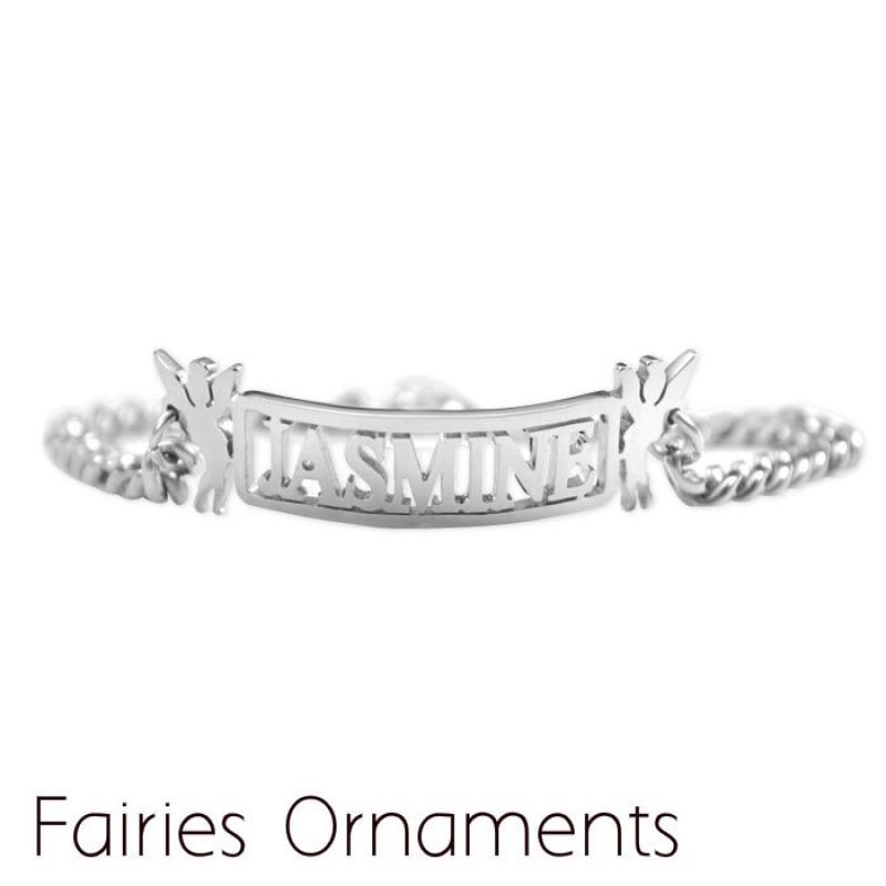 Personalised Name Bracelet Anklet Sterling Silver