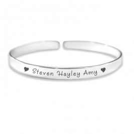 Personalised 8mm Endless Bangle - 925 Sterling Silver