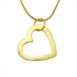 Personalised Always in My Heart Necklace - 18ct Gold Plated