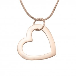 Personalised Always in My Heart Necklace - 18ct  Rose Gold Plated