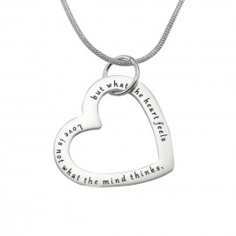 Personalised Always in My Heart Necklace - Sterling Silver