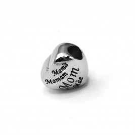 Personalised Mothers Heart Charm for Charm Bangle