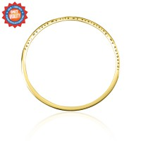 Personalised Classic Bangle - 18ct Gold Plated