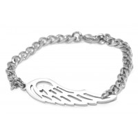 Personalised Angels Wing Bracelet - Silver