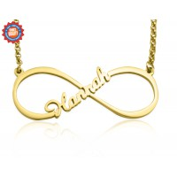 Personalised Single Infinity Name Necklace - 18ct Gold Plated