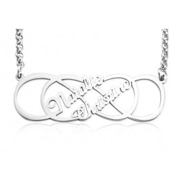 Personalised Infinity X Infinity Name Necklace - Sterling Silver