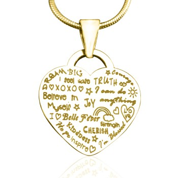 Personalised Heart of Hope Necklace - 18ct Gold Plated