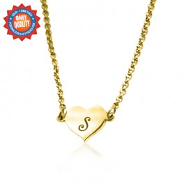Personalised Precious Heart - 18ct Gold Plated