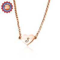 Personalised Precious Heart - 18ct Rose Gold Plated