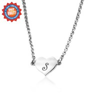 Personalised Precious Heart - Sterling Silver
