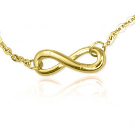 Personalised Neatie  Infinity Bracelet/Anklet - 18ct Gold Plated