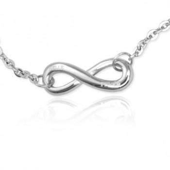 Personalised Neatie  Infinity Bracelet/Anklet - Sterling Silver