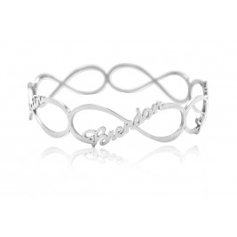 Personalised Endless Single Infinity Bangle