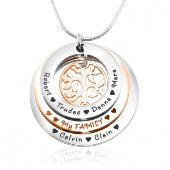 Personalised Family Triple Love - Two Tone - Rose Gold n Silver