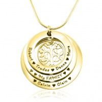 Personalised Family Triple Love - 18ct Gold Plated