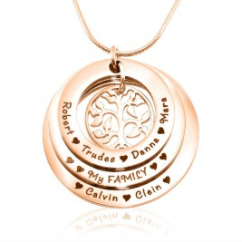 Personalised Family Triple Love - 18ct Rose Gold Plated