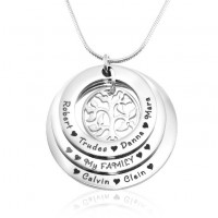 Personalised Family Triple Love - Sterling Silver