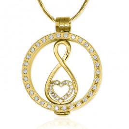 Personalised Gold Diamonte Necklace with 18ct Gold Plated Infinity