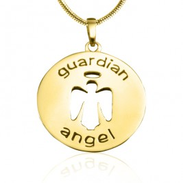 Personalised Guardian Angel Necklace 1 - 18ct Gold Plated