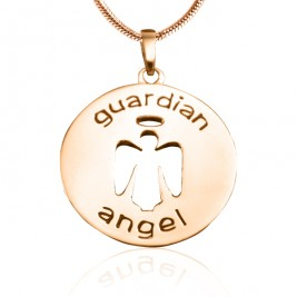 Personalised Guardian Angel Necklace 1 - 18ct Rose Gold Plated