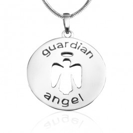 Personalised Guardian Angel Necklace 1 - Sterling Silver