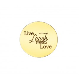 Personalised Live Laugh Love Disc - Dream Locket