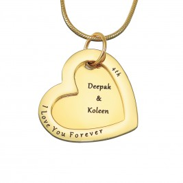 Personalised Love Forever Necklace - 18ct Gold Plated
