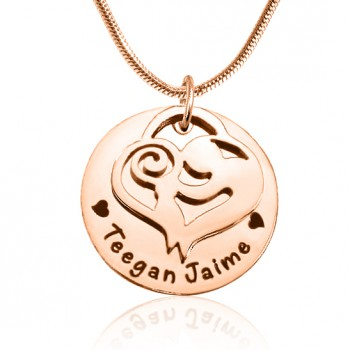 Personalised Mother's Disc Single Necklace - 18ct Rose Gold Plated
