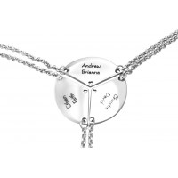 Personalised Meet at the Heart Triple - Three Personalised Necklaces