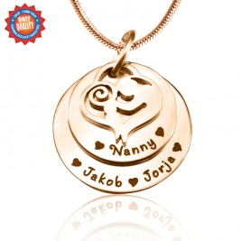 Personalised Mother's Disc Double Necklace - 18ct Rose Gold Plated