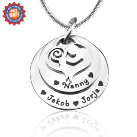 Personalised Mother's Disc Double Necklace - Sterling Silver
