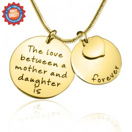 Personalised Mother Forever Necklace - 18ct Gold Plated