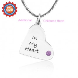 Personalised Additional Childrens Heart Pendant