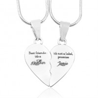 Personalised My Bestie Two Personalised Sterling Silver Necklaces