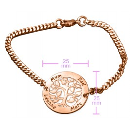 Personalised My Tree Bracelet - 18ct Rose Gold Plated