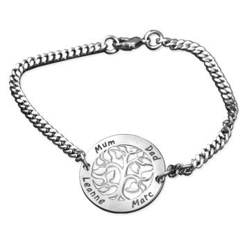 Personalised NN Vertical silver Bracelet/Anklet
