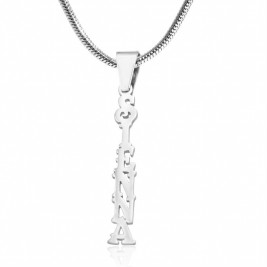 Personalised Name Necklace Vertical - Sterling Silver