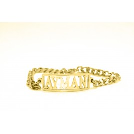 Personalised Name Bracelet/Anklet - 18ct Gold Plated