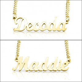 Personalised Name Necklace - 18ct Gold Plated