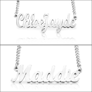 Personalised Name Necklace - Sterling Silver
