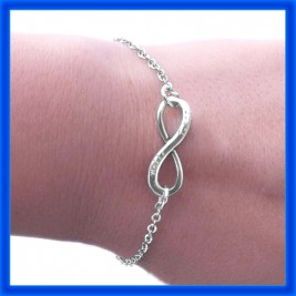 Personalised Neatie  Infinity Bracelet/Anklet - Sterling Silver