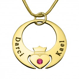 Personalised Queen of My Heart Necklace - 18ct Gold Plated